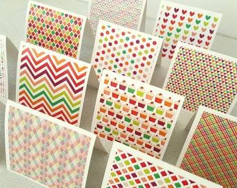 Mini notecards set of 12 / mini cards / mini note cards