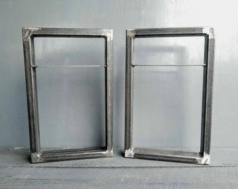 Set of 2 Floating Metal Table Legs for Bench Steel Legs