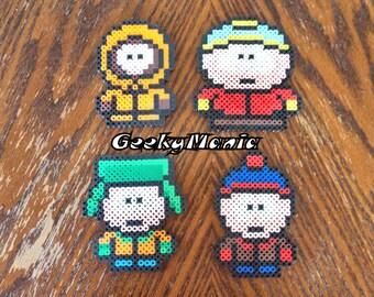 South Park - Main Characters (Kenny, Cartman, Kyle, Stan) Perler Beads