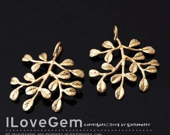 2pcs, NP-1885, Matt Gold Plated, Tree Pendant, Personalized family tree, Mothers day