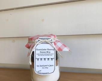 Gluten Free Chocolate Cherry Scones Mix Jar