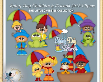 Spring Clipart, Baby, Rainy Days Chubbies and Friends 2015