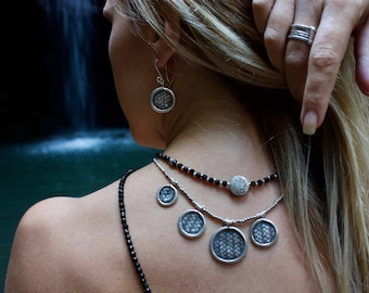 Hill Tribe Silver Woven Charm Necklace