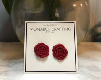 Rositas - Tiny Rose Earrings (polymer clay)