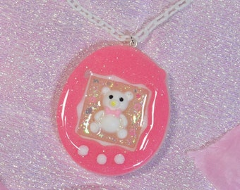 Tamagotchi Teddy Bear Necklace