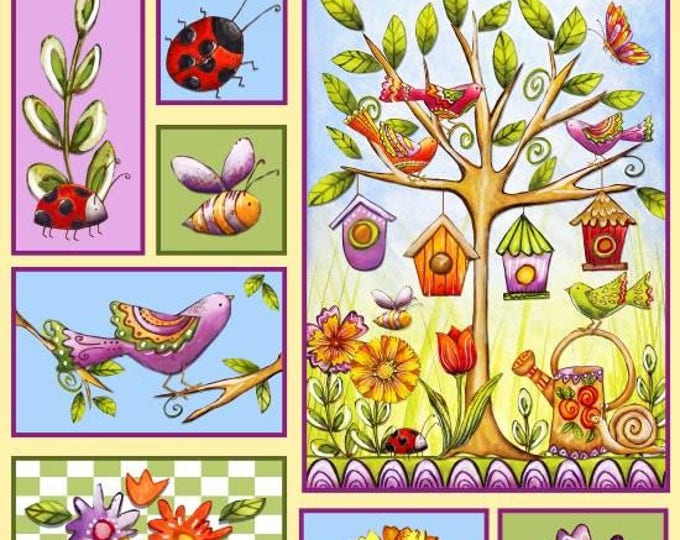 Garden Glory by Blank Quilting - Garden Glory Panel - Cotton Woven Fabric - 24 inch panel