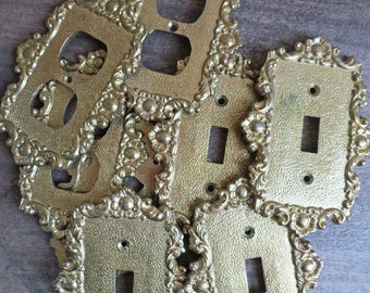 Brass Switch Plate Cover, Brass Outlet Plate Cover, Gold Wall Plate Covers, SwitchPlate Cover