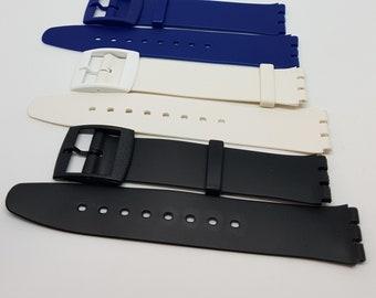 Swatch watch type strap. 17mm ULTRA THIN/SKIN strap.