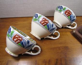 Royal Caulden Teacups - Set of Three (3)