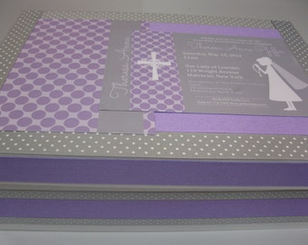 Girl's First Holy Communion - With Your invitation