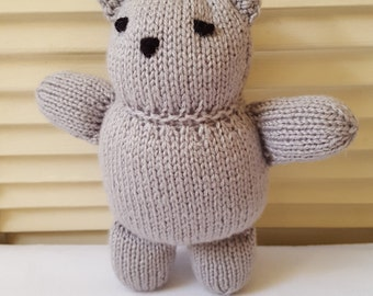 Kitty Cat Stuffed Animal Toy/ Hand Knitted Amigurumi Doll/ Handmade Toys/ Stuffie Cats/ Knit Gray Kitty Cat/ Gift For Kids