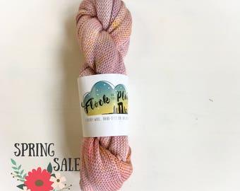25 silk/ 75superwash merino Sock Blank - Sunset