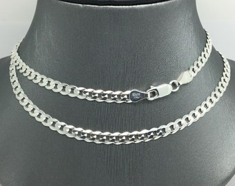 """925 Sterling Silver Curb Link Chain ~4.50mm 22"""""""