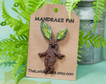 Mandrake Pin, Mandrake Lapel Pin, Mandrake Root, Resin Pin, 3D Pin, 3D Lapel Pin, Unique Mandrake Pin, Mandrake Root Pin, Crying Mandrake