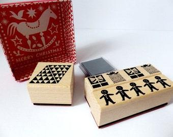Stamp set Christmas X-Mas borders gifts