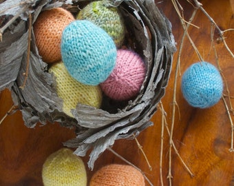 Knitting Pattern - Spring Easter Eggs - DIY Easter Decoration  - PDF download