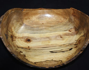 Spalted Pecan Natural Edge Bowl