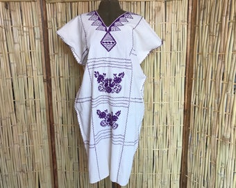 Meixcan cotton dress with beautiful embroidery