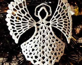Angel Christmas decoration, Christmas tree decoration, hanging angel, Christmas ornament, white angel, crochet angel, Christmas angel,angel