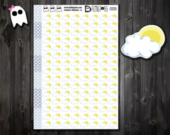 SS-25 /// Partly Sunny Planner Stickers - Partly Cloudy Planner Stickers - Weather Stickers - Planner Stickers - Partly Cloudy
