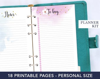 Personal planner kit, monthly view, gift mom, expense tracker, monthly planner, to do list notepad, planner notebook, agenda 2018, personal