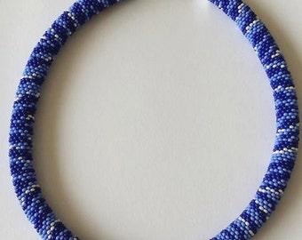 Blue zebra necklace.