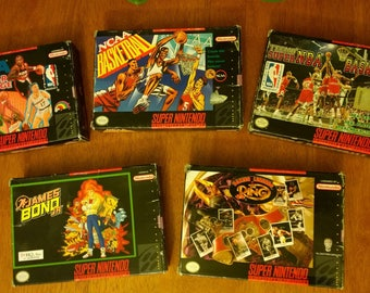 SuperNES Game Lot, good to very good used condtion, with manuals!
