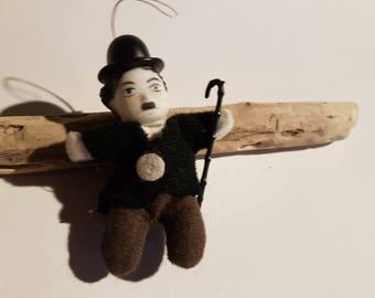 Miniature Charlie Chaplin Hanging Ornament