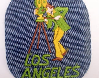 Los Angeles California Movie Maker authentischen Vintage Sewing Patch Applique Sammlerstück