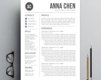 resume template cv template cover letter for ms word professional and modern resume design instant digital download mac or pc