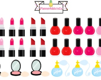 Cute Beauty / Cosmetics Planner Stickers!