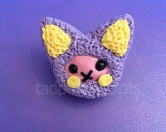 Purple Kitty Brooch