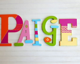 Name Wall Letters - Kids Name - Wall Initials - Mixed Font - Nursery Letters - Baby Name Letters - Nursery Sign