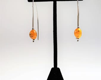 Natural Baltic amber earrings 3g