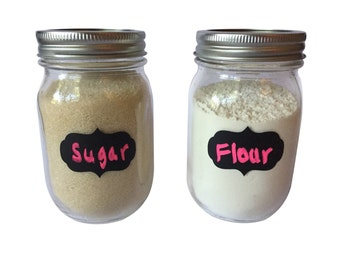 24 Chalkboard Labels, Mason Jar Labels, Decorative Labels, Bottle Labels, Jar Labels, Craft Labels, Food Labels