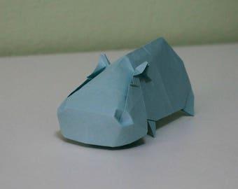 Hippopotamus - Origami - Hippo
