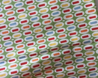 Peas & Carrots Green American Jane for Moda Fat Quarter Quilt Fabric Sewing Fabric Retro Fabric