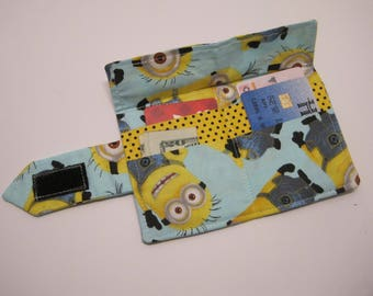 Minion fabric Wallet for men or women