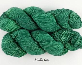 Draft No. 43 - forest green tonal semisolid hand dyed yarn - fingering sock - superwash merino cashmere nylon MCN - 100 grams