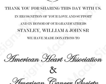 Love Scroll Wedding Favor Card - Printable