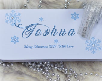 Personalised Christmas Money Gift Vouchers Wallet Envelope Card Various Styles.