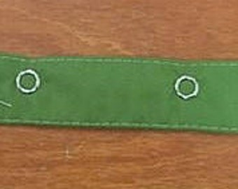 Collar base to loop or tie for dog and cat - light green