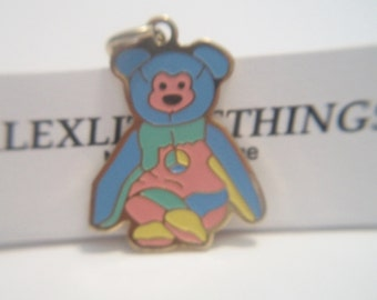 TY Beanie Babies Peace Bear Pendant Colorful Peace Sign Charm Costume Jewelry Hippie Multi Color Fashion Accessories