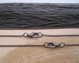 Sale 15pcs 19inch gunmetal necklace chain 1mmx2mm