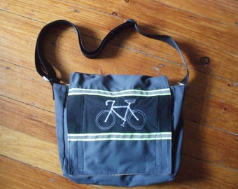 Upcycled Bike Messenger Bag made from old pants
