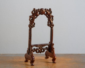 Wooden Free Standing Mirror Frame - 1:12 Scale Vintage Dollhouse Furniture