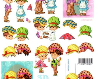 1 x sheet 3D boyfriend girlfriend on hats (9725)