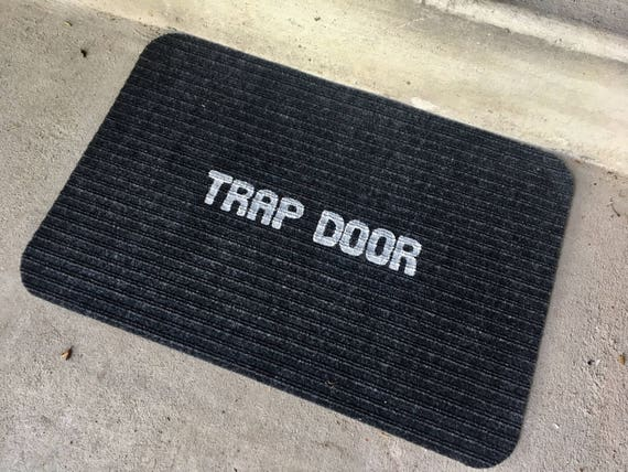 Trap Door Doormat rug mat carpet house home warming front porch welcome funny weird apartment decor decoration him her gift present idea & Trap Door Doormat rug mat carpet house home warming front