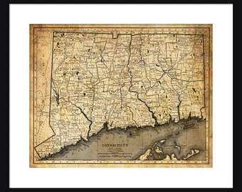 Connecticut Map - Print - Poster