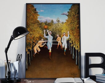 Henri Rossseau The Football Players Painting Modern Sport Wall Art Sport Poster Soccer Poster Rugby Poster World Cup Russia Poster Football